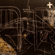 Taca de vernís sobre negre, 2009
